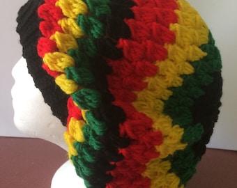 Rastafarian slouch hat handmade