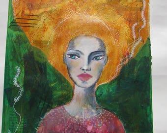 Harvest ~ Original Mixed Media Art ~ Jo Hudson