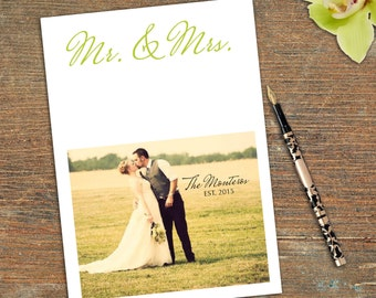 Mr & Mrs, Thank You, Stationary, Correspondence, Customizable, Printable