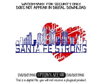 Santa Fe Strong  SVG/DXF/PNG Digital Cut File