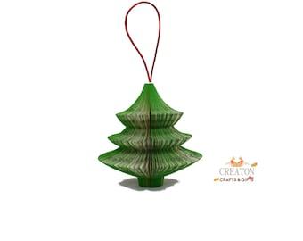 Book Art Christmas Tree ornament hanging - Christmas tree Decoration - Hanging decoration - christmas tree - book ornament -