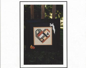"""Clearance - """"A Halloween Heart"""" Counted Cross Stitch Chart by Sekas & Co."""