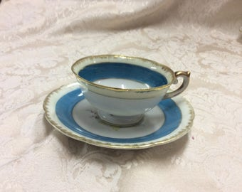 Tea Cup and Saucer, handpainted