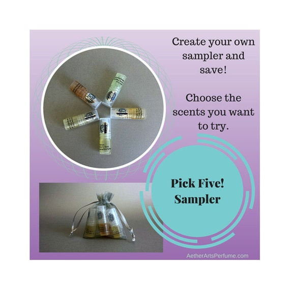 Pick Five!  2ml Roller Bottle Sample Pack.  Perfume to Go!  Mini Roller Bottles, Great for Gifts, Travel, and Trying out New Scents!