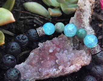 Aqua lava bracelet