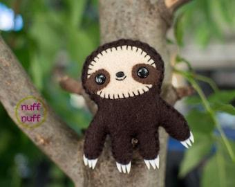 3.5 inch Felt Sloth - Pocket Plush toy