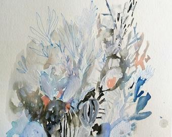 Criss Cross Cacti Sauce- abstracti cacti- 11x15