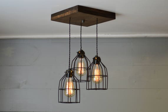 Farmhouse light reclaimed wood chandelier light fixture like this item aloadofball