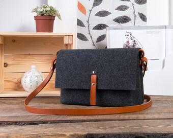 Leather purse, leather crossbody bag, felt cross body bag, small messenger bag women, handbags crossbody, best selling items, busy bags,