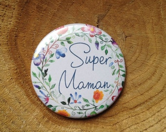 Badge floral 56 mm