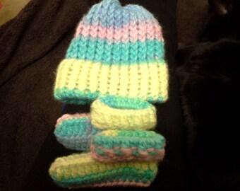 hand crocheted with soft brush yarn
