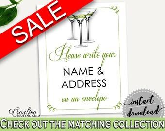 Addressing Sign Bridal Shower Addressing Sign Modern Martini Bridal Shower Addressing Sign Bridal Shower Modern Martini Addressing ARTAN