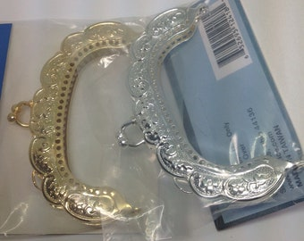 """DARICE PURSE FRAME 3.5"""" Gold or Silver New in Package Fast Shipping Sew On Purse Frame Kiss Lock Metal Purse Frame"""