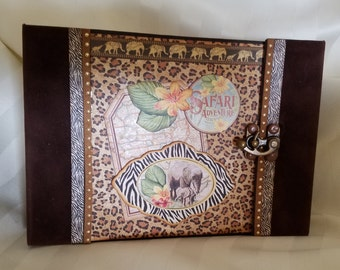 Safari Adventure Mini Album 8 x 6 - PDF tutorial