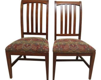 2 Ethan Allen Mission American Impressions Cherry Dining Room Side Chairs A