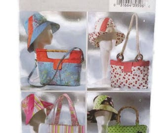 Butterick 4532 Handbags Totes and Matching Hats UNCUT