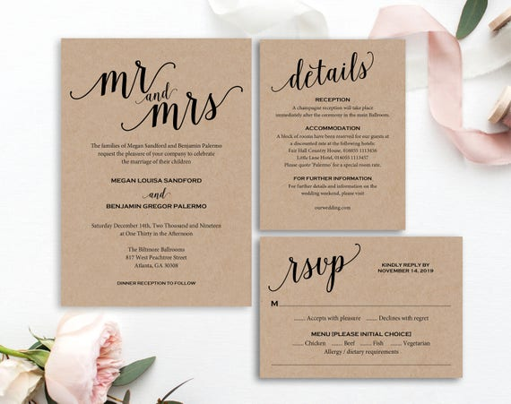 Mr And Mrs Wedding Invitation Wording: Mr And Mrs Wedding Invitation Wedding Invitation Template