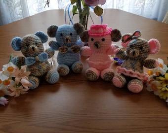 Teddy Bear family crocheted