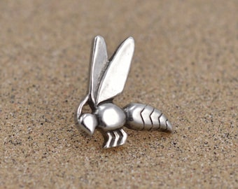 Egyptian Bee Hieroglyph Pin / Tie Tack - Sterling SIlver