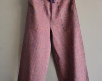Hand-spun and handwoven khadi  pants , khadi fabric , hand-loom cotton ,  khadi garment .