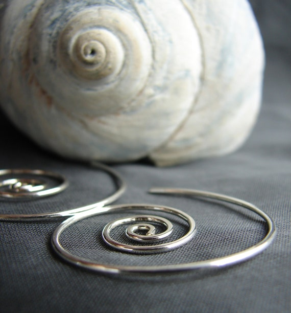 Nautilus wind earrings in sterling silver
