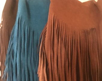 Suede Leather fringe bag, Bohemian Fringe bag, Festival bag, Gypsy fringe bag, festival bag, fringe bag, Boho bags