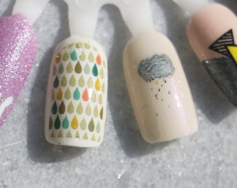 Nail Decals: Rainy Days Water Nail Decals Summer Sale!!!!!