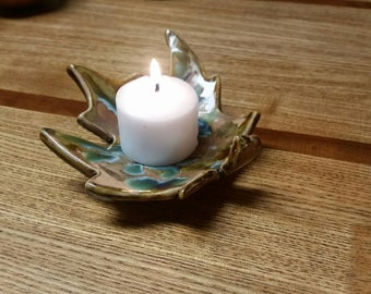 Pair of Leaf votive/ soap dish