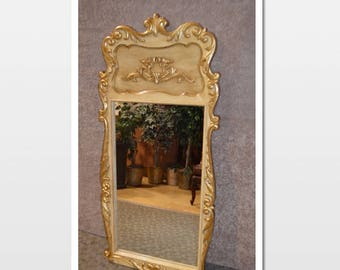 Vintage Ornate French Style Wall Mirror