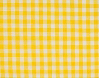 Gingham yellow 5mm 100% cotton