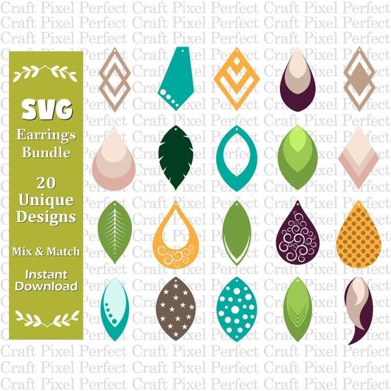 Earrings Template Svg Faux Leather Earrings Svg Earrings