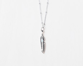 Boho Feather Necklace | Feather Jewellery | Satellite Chain Layering Necklace | Native American | Gift Idea | SALE