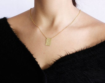 gold of on rectangular maya pendant dipped angelou chain reads gratitude necklace quote a attitude