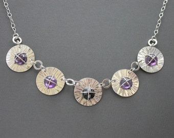 OOAK Stacey Maddock Designs cubic zirconia statement necklace