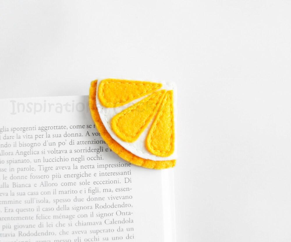 Lemon Corner Bookmark cute felt bookmark felt fruit summer