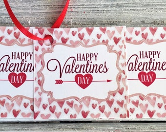 Valentine Gift Tags: Valentine Girl Tags |Valentine Boy Tags | Happy Valentines Day Tags | Gift Tags |Heart Tags | Personalized Tags