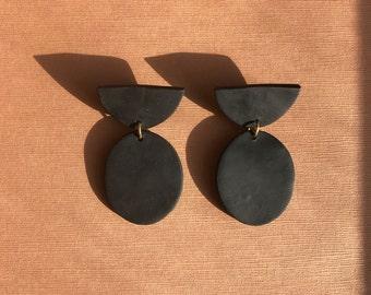 Moon Shadow Drop Earrings