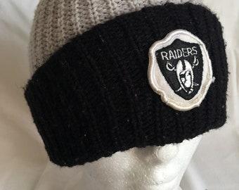 Vintage Raiders beanie hat-NFL-Raider Nation-football