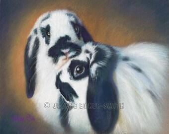Bunny Art, Rabbit Art, Rabbit Decor, Rabbit Lover Gift