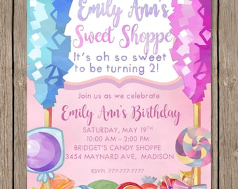 SWEET SHOPPE   Candy Shop Birthday   Candy Birthday   Birthday Party   Sweet Shoppe   Candy Shoppe   Sweet Shop Party   Customizable