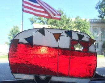 Happy Camper Trailer RV Red Sun Catcher Airstream