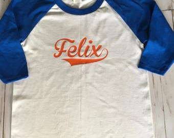 Kids Personalized Baseball Shirt, Custom Raglan Shirt, Kids Baseball shirt, Baseball Tee