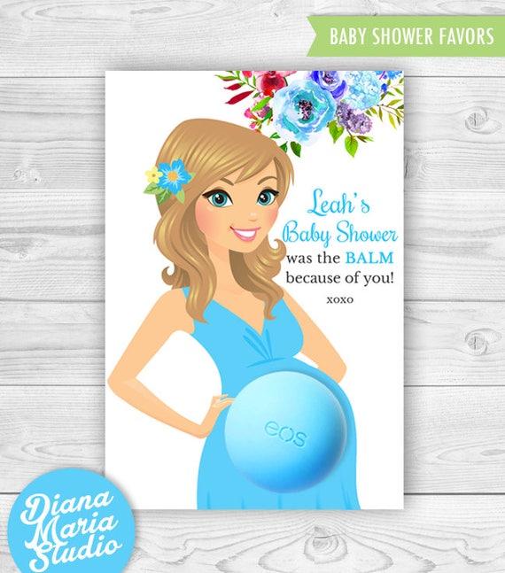 Baby Shower EOS Lip Balm Favor Card Printable Favor Template