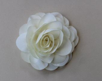 Ivory Flower girl headband ivory wedding headband plastic satin headband toddler cream headband flower girl outfit girls headband