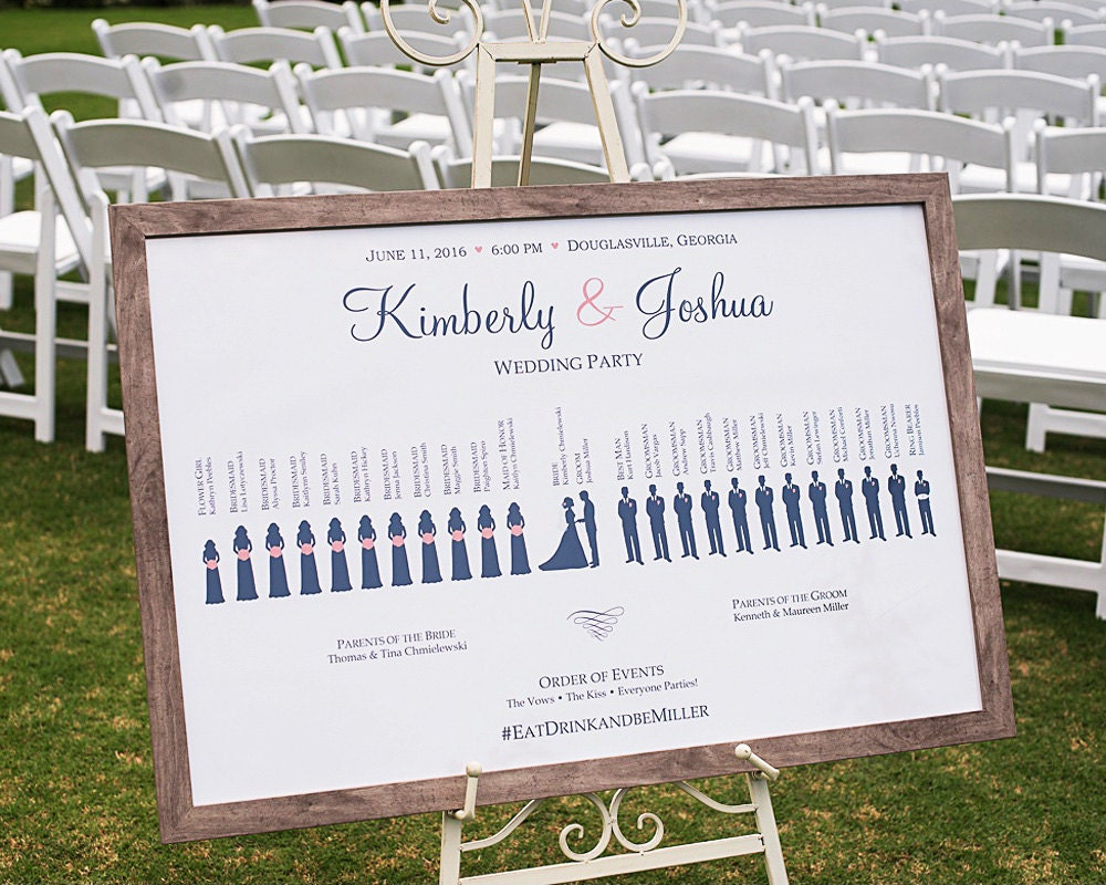 Custom Wedding Ceremony & Reception Welcome Sign Bridal