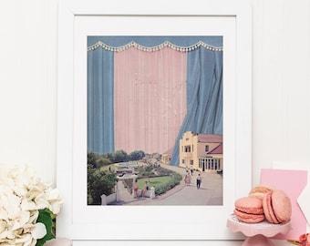 Pastel Print - Pink and blue print - Rose quartz poster - Wall prints