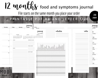 UNDATED My food and symptoms journal Pdf. Symptoms blank.Food allergies and intolerance diary log. Fpies, EOE, dairy, Coeliac, IBS, Cmpa.