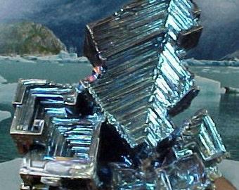 Rainbow Geometric Bismuth Crystal Mineral Specimen Excellent for Instilling Group Cohesiveness 014