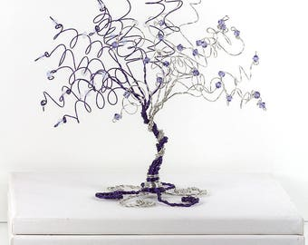 When Two Become One Wedding Cake Topper Tree Custom Wire Sculpture