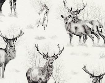 Fabric by the Yard -- Animal Kingdom -- Deer in Shadow